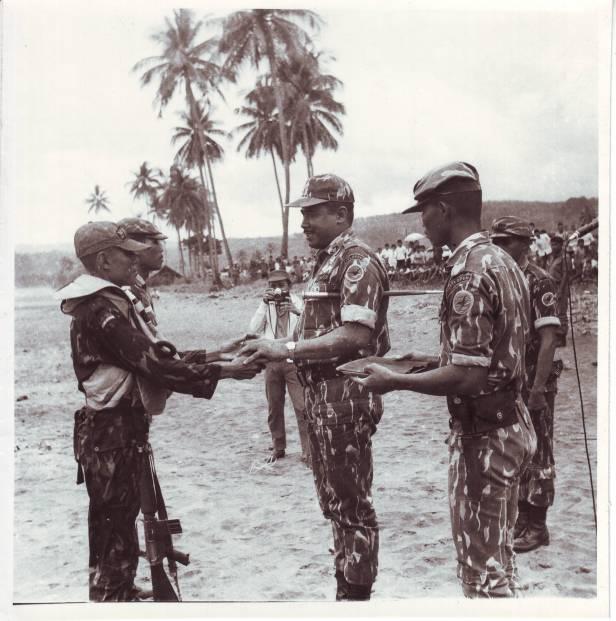 PENUTUPAN LATIHAN JURU BALA DI PELABUHAN RATU 1971