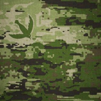 rancangan motif camouflage untuk brimob yang dibuat oleh seorang ahli strategi militer ken conboy