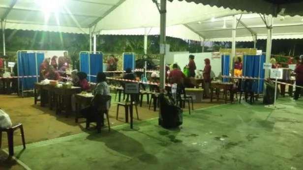 Situasi TPSLN 1 sd 10 Johor Bahru, Malaysia pk. 22.00 WS pencoblosan Pilpres lancar dan aman