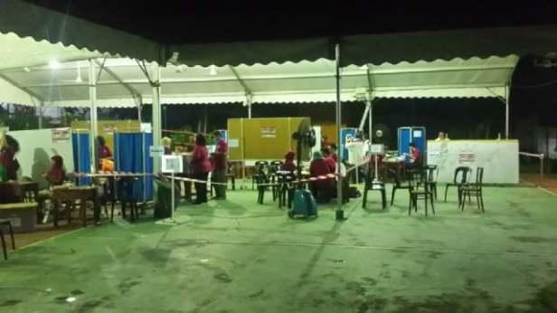 Situasi TPSLN Johor Bahru, Malaysia pk. 22.00 WS