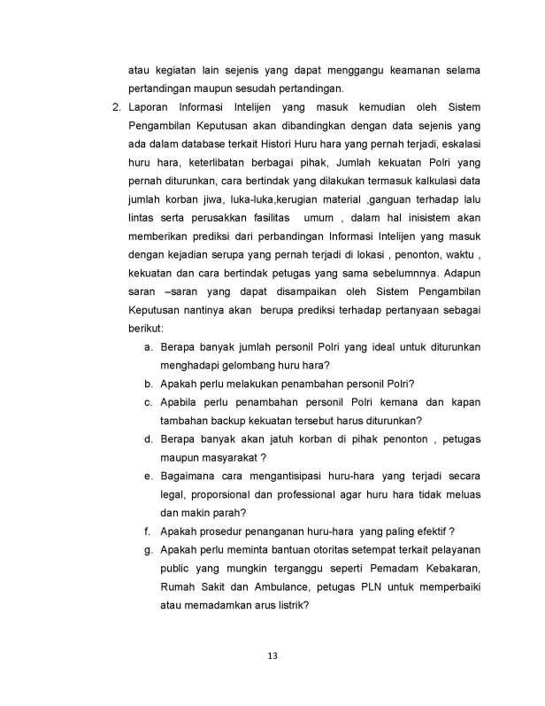 SISTEM PENGAMBILAN KEPUTUSAN PENANGANAN HURU HARA PASCA PERTANDINGAN SEPAK BOLA_Page_13