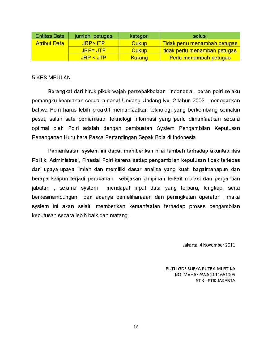SISTEM PENGAMBILAN KEPUTUSAN PENANGANAN HURU HARA PASCA PERTANDINGAN SEPAK BOLA_Page_18